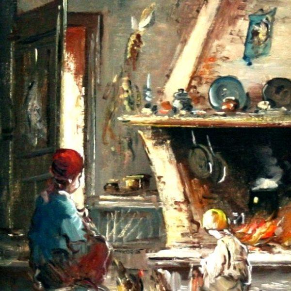M. Fattori, La cucina di campagna