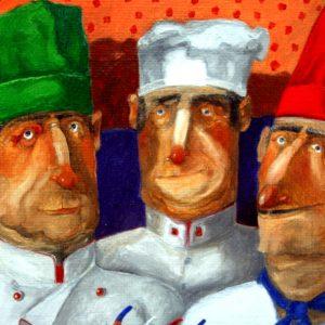 Pino Procopio, Un pesce per tre cuochi italiani