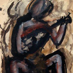 Mario Sironi, Figura accovacciata con strumento musicale