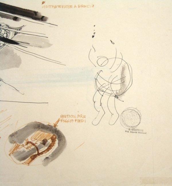 Gino de Dominicis, Schizzo dimostrativo montagne russe a braccia